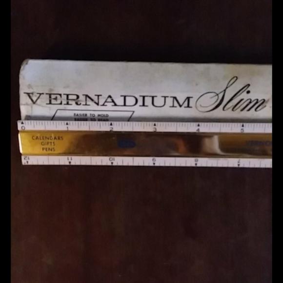 Vintage Vernadium Triangular Ruler